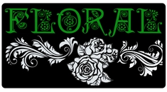 "AEROSPACE Airbrush Stencils - <font color=""006600"">Floral Series</font>"