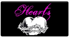 "AEROSPACE Airbrush Stencils - <font color=""CC0099"">Hearts Series</font>"