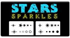 "AEROSPACE Airbrush Stencils - <BR><font color=""00FFFF"">Stars and Sparkles</font>"