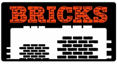 "AEROSPACE Airbrush Stencils - <font color=""CC3300"">BRICKS</font>"