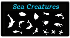 AEROSPACE Airbrush Stencils - Sea Creature Series