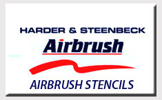 Harder Steenbeck Airbrush Stencils with Step by Step Instructions