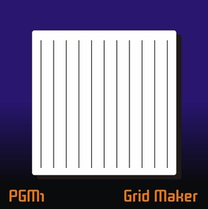 AEROSPACE Layout Airbrush Stencil - PGM1 Grid Maker