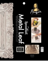 MONA LISA IMITATION SILVER LEAF SHEET 25 PACK