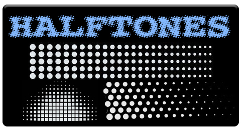 "AEROSPACE Airbrush Stencil - <BR><font color=""0099FF""> Halftones Series </font>"