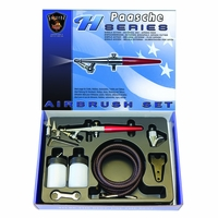 Paasche H-202S Airbrush Kit - Single Action - Metal Handle