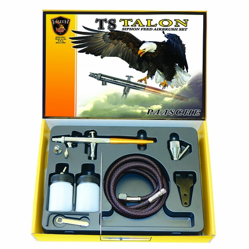 Paasche Talon TS Siphon-Feed Airbrush Kit - TS-SET