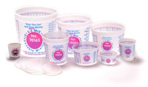 Lids for E-Z MIX  1/4 Pint and 1/2 Pint Mixing Cups