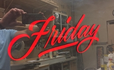 Intro to Handpainted Lettering with Ken Johnson - Friday April 24th 4pm to 8pm