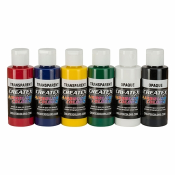 Createx Primary Airbrush Set  of 6 Colors