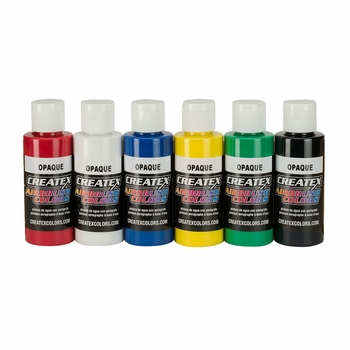 Createx Opaque Airbrush Set of 6 Colors