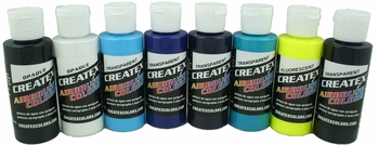 Createx, Kent Lind Airbrush Set of 8 Colors  - Cool