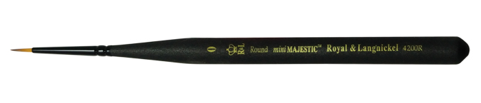 ROYAL BRUSH MINI MAJESTIC SHORT HANDLE ROUND 2