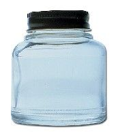 Badger Empty 2oz Glass Jar with Cove