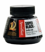 SPEEDBALL SUPER BLACK INDIA INK - 2OZ