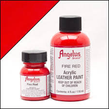 ANGELUS ACRYLIC LEATHER PAINT 1OZ FIRE RED