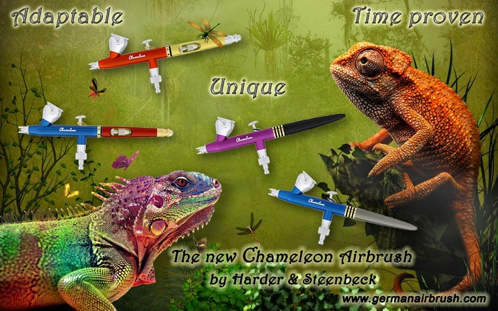 Harder Steenbeck Chameleon Airbrushes