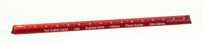 """6"""" Red Mini Combo Drafting Scale Custom Imprint Promotional Product"""