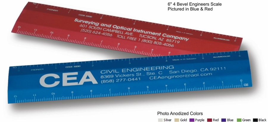 """6"""" Engineering Scale Ruler  Custom Imprint Promotional Products"""