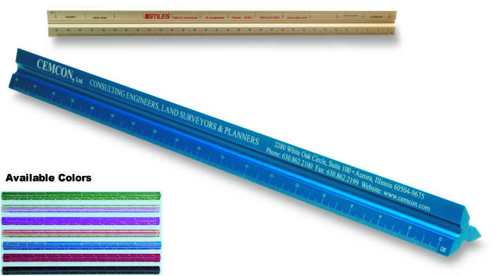 "12"" Engineers ScalesCustom Imprint Promotional Products"