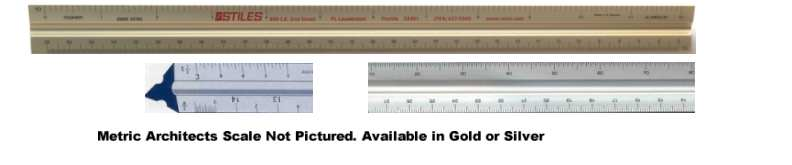 Metric Scales Architects 30cm Solid Triangular Aluminum Custom Imprinted Promotional Products