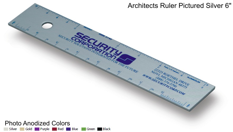 Architects Rulers Straightedge Aluminum, Custom Imprinted Promotional Products