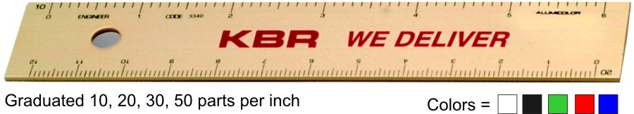 "6"" & 12"" Engineering Rulers Custom Imprinted Promotional Products"