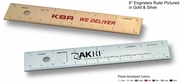 "6"" Black Engineers Rulers Custom Imprint Promotional Products"