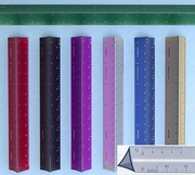 """12"""" Purple Hollow Architects Scale Custom Imprint Promotional Product"""