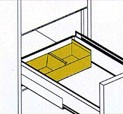 509613 4 x 9 checks, upper, 2/dr., stackable tray By Sentry Safe