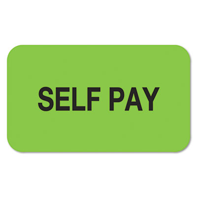 TAB01320 Medical Labels for Self Pay, 7/8 x 1-1/2, Fluo
