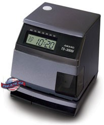 TS-3000i Automatic TimeSync Web Clock By Amano