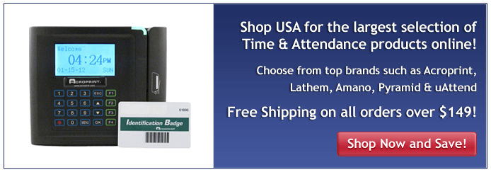 Largest selection of Time & Attendance Products online