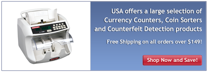 Largest selection of Currency Coundters, Coin Sorters and Counterfeit detection Products