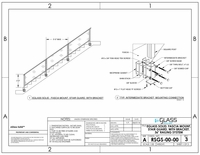 Solid Fascia Mount Stairs - 36""