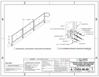 Solid Fascia Mount Stairs - 42""