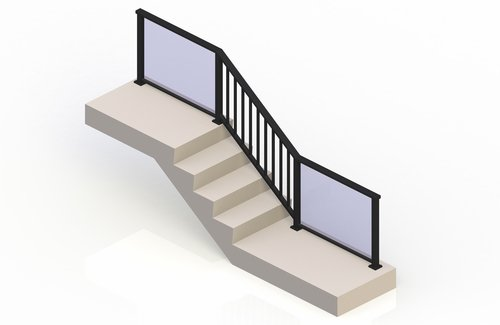 Simple, Continuous Solution for Stairs - eGlass Picket™