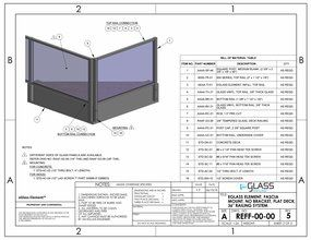 eGlass Element&trade; System Drawings <br> Fascia Mount w/o Brackets