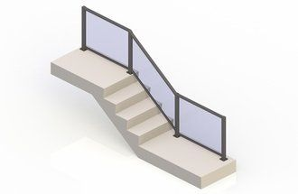 Bronze eGlass Element™ System - Stair Transition