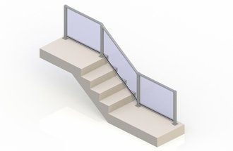 Silver eGlass Element™ System - Stair Transition