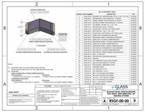 eGlass Solid&trade; System Drawings <br> Fascia Mount