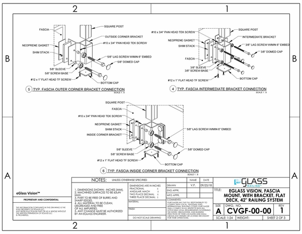 eGlass Vision™ System Drawings - Fascia Mount