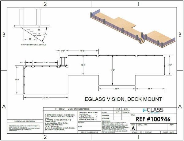 Silver Vision Post Glass Clamp Deck Project Specifications