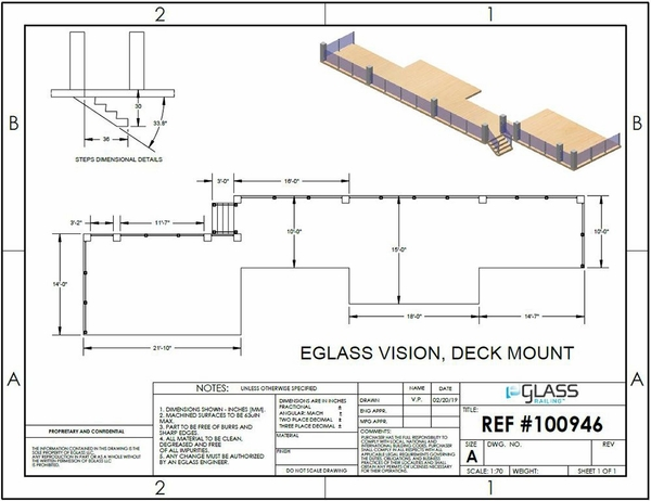 Silver Vision Post and Pillar Glass Clamp Deck Project Specifications