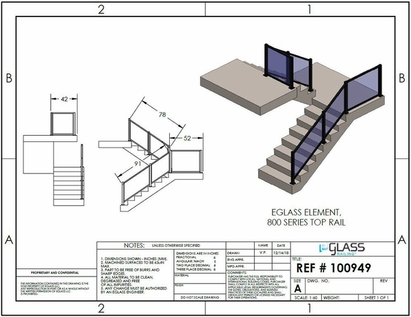 Black Element Staircase Project Specifications.