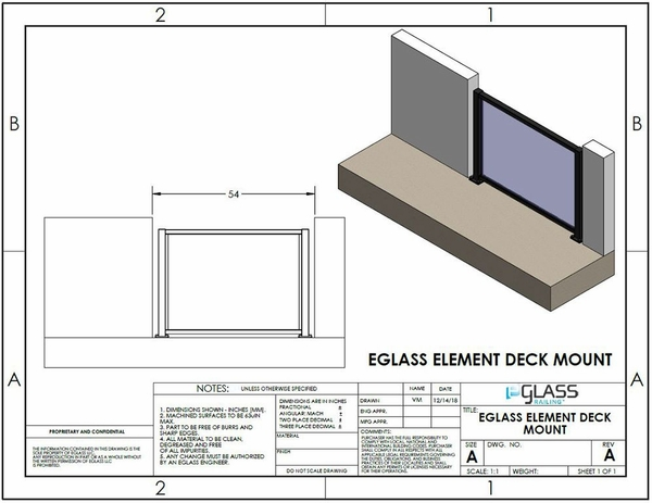 Black Element Balcony Specifications.