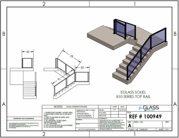 Black Solid Staircase Project Specifications.