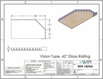Specifications for customer project of eGlass Vision deck mount system in silver.