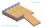 Render of Vision system used for a deck with fascia mount brackets.