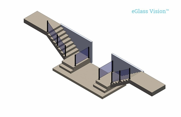 Glass Railing Diagram, Vancouver, Washington